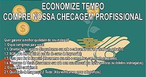 CHECAGEM PROFISSIONAL - FECHAMENTO DE ARQUIVOS