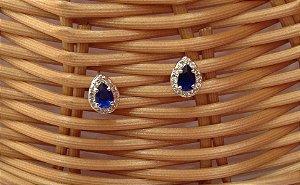 Brinco Prata 925 - Gota Azul