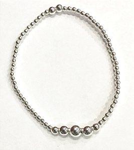 Pulseira Prata 925 Contas Tiffany