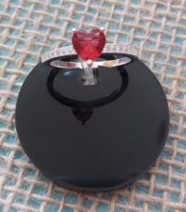 Anel de Prata 925 - Rubi Rosa