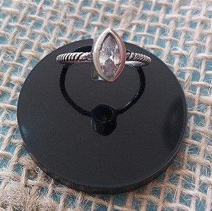 Anel de Prata 925 - Cristal