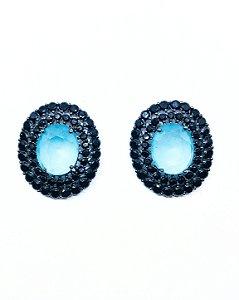 Brinco Mandala Azul Acqua Leitoso