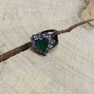 Piercing Fake Zircônia Verde Esmeralda