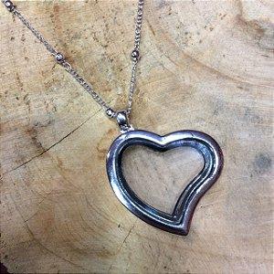 Colar Cápsula Coração