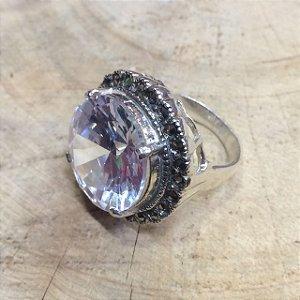 Anel Pedra Zircônia Cristal