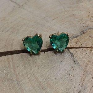 Brinco Coração Verde Paraíba