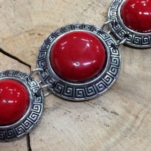Pulseira Pedra Natural Vermelha