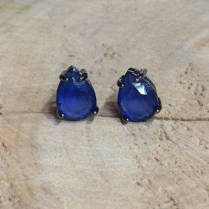 Brinco Gota Topázio Azul