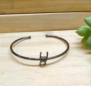 Bracelete Nó Farpado Ródio Negro
