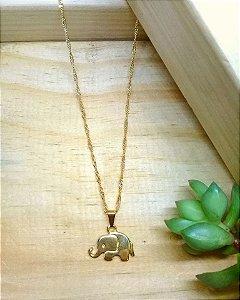 Colar Elefante Dourado