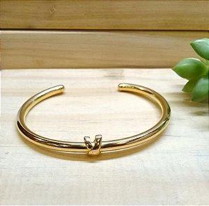Bracelete X Dourado