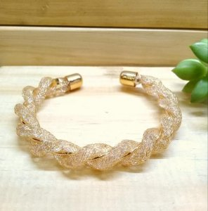 Bracelete Rendada Dourado