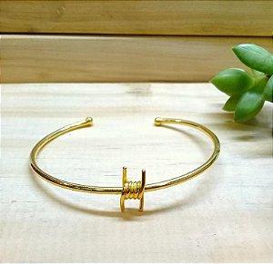 Bracelete Nó Farpado Dourado