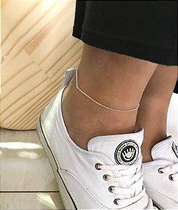 Tornozeleira Corrente Mini Elos Prata 925