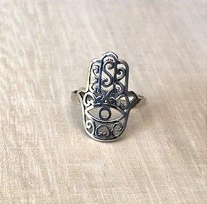Anel Mão de Fátima Prata 925
