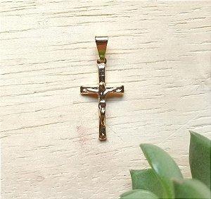 Pingente Cruz Pequena Dourada