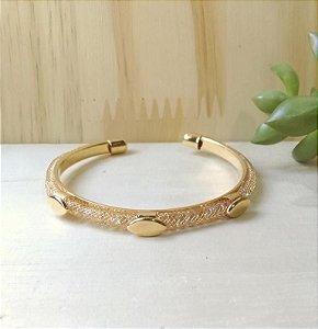 Bracelete Losango c/ Zircônias Dourado
