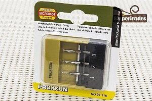 Jogo de 3 Fresas para Microfresadora MF70 - 27116 - Proxxon