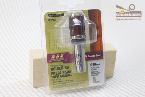 Fresa AGE™ Pro-Series Amana Tool - Reta/Paralela com Rolamento Superior 19mm x 25,4mm [FR162]