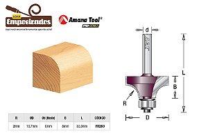 Fresa AGE™ Pro-Series Amana Tool - Arredondar com Rolamento - R-2mm [FR260]