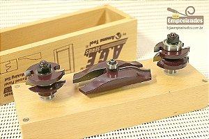 Jogo de Fresas para Porta Almofada com 3 peças Amana Tool - MD500 [Ogee Raised Panel Door Making]