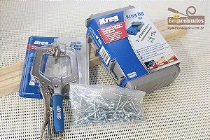 Kit Kreg: Pocket Hole Jig Kreg R3 + Grampo Face Classic 2 polegadas + 50 Parafusos sortidos de Brinde!