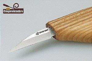 Faca de Esculpir Madeira Pequena para Detalhes C15 - Beavercraft