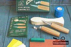 Kit de Entalhe Hobby e Iniciantes Colher Celta DIY04 - Beavercraft