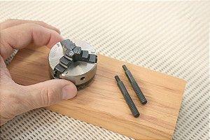 Placa de 3 Castanhas de Metal para Micro Torno de Madeira Proxxon DB250 [27026]