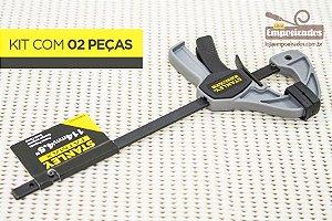 """Grampo Rápido Pequeno Stanley FATMAX 4,5"""" / 10cm - Kit com 2 peças"""