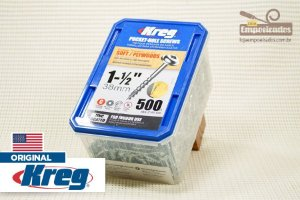 "Parafuso Kreg Rosca Grossa - 1.1/2"" - 38mm - 500 unidades [SML-C150-500]"