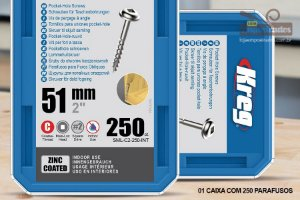 "Parafuso Kreg Rosca Grossa - 2"" - 51mm - 250 unidades [SML-C2-250]"