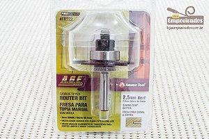 Fresa AGE™ Pro-Series Amana Tool - Canal Debrum - 2,5mm [FR322]