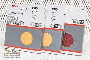 Kit de Lixas para Esmerilhadeira com 30 Unidades - 3 numerações (60/80/120)