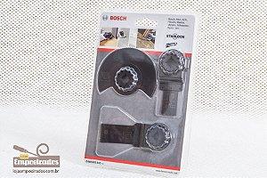 Jogo de acessórios básicos Bosch para multicortadora - Madeira - 3pçs