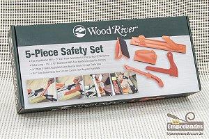 Kit Acessório de Segurança para Serra Circular e Tupia c/ 5 peças - Woodriver [Push Stick]