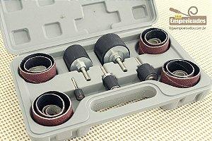 Kit de Lixas Tambor para Furadeira e Parafusadeira com 25 peças + Kit de Lixas de Reposição - Silverline