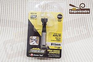 Broca tipo Forstner com ponta de metal duro e riscador Amana Tool 15mm - 620-150