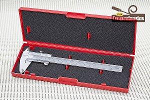 "Paquímetro Starrett 125MEA 6""/150mm - Escala Polegada Decimal - 0,02mm e 0,001"""