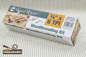"Gabarito de Rosca em Madeira Cossinete 3/4"" x 6 DPP - Woodriver [Woodthreading Kit]"