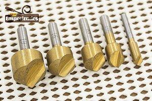 Kit Escareador Revestido de Titânio com 5 peças - Silverline