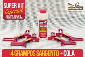 Kit Moldura - 4 grampos tipo sargento + Cola Titebond Original 473ml