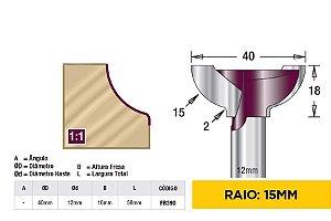 Fresa para Puxador Cava 15mm AGE™ Pro-Series Amana Tool [FR390]