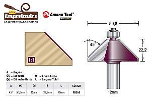 Fresa para Chanfrar com Rolamento 45° Haste 12mm AGE™ Pro-Series Amana Tool [FR292]