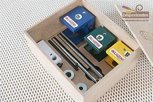 Kit Gabarito de Furação (15, 18 e 25mm) - Aluzini Ferramentas