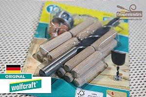 Conjunto para Cavilhar de 10mm - 25 peças  2918 - Wolfcraft - Centralizadores de Cavilhas
