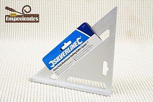 """Esquadro Carpinteiro de Alumínio 7"""" com 90º e 45º - Silverline"""