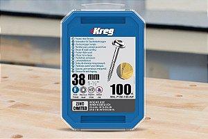 """Parafuso Kreg Jig Rosca Fina 1-1/2"""" - 38mm [SML-F150-100]"""