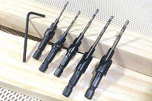 Kit de Brocas Escareadoras Amana Tool - 5 peças