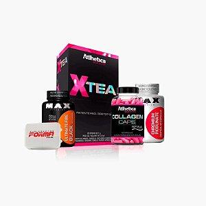 Xtea + Fire Black + Porta Comprimidos + Cromo + Colágeno - Atlhetica Nutrition